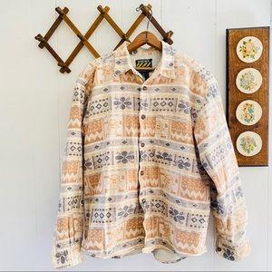 Vintage Fleece Sherpa Lined Shirt Jacket
